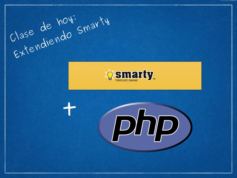 Como extender Smarty mediante plugins con PHP