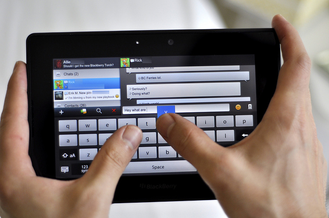 BlackBerry PlayBook y Ubuntu: como compartir archivos por WI-FI