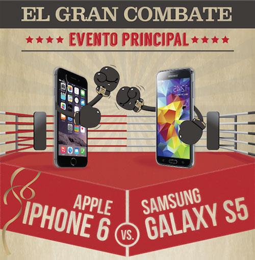 Infografía – El Gran Combate IPhone 6 vs Galaxy S5