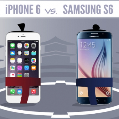 Infografía – La guerra continua, Iphone 6 vs Galaxy S6