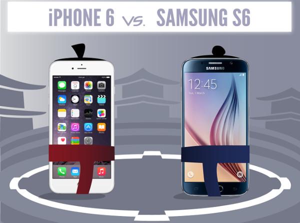 Infografía – La guerra continua, Iphone 6 vs Galaxy S6