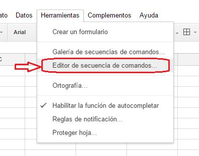 Envío de correos con Google spreadsheet
